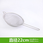 Stainless Steel Colander and Food Strainer,KITCHEN stainless steel slotted spoon flour sieves of milk residue filtration,22CM