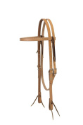 Turquoise Cross 45-0151 Skirting Leather Browband Headstall, Horse Size, Light Oiled