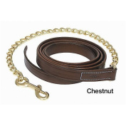 Walsh Leather Lead w/ Chain Chestnut