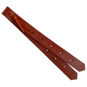 Premium Classic Brown Leather 46cm Off Billet for Saddle 2 Ply