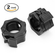 HUELE Quick Release Pair of Locking 5.1cm Olympic Size Barbell Clamp Collar Great for Pro Crossfit Training