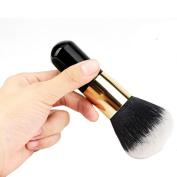 Gillberry 1pcs Big Size Beauty Blush Brush for Makeup Soft Facial Finishing Powder Makeup Brushes Wood Black Handle
