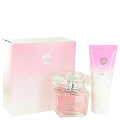 Bright Crystal by Versace Gift Set -- 90ml Eau De Toilette Spray + 100ml Body Lotion for Women