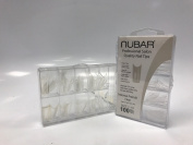 Nubar Professional Salon Quality Intense French Clear Nail Tips
