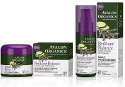 Avalon Organics Brilliant Balance Daily Moisturiser Bundled with Ultimate Night Cream, 60ml Each