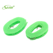 Saim 2M Portable Windproof Metal Hooks Flexible Braided Clothesline For Outdoor Home Drying 2 Pcs