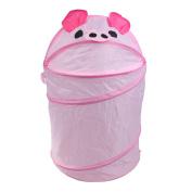 Liangxiang Folding Storage Bucket Cute Animal Laundry Hamper Bucket Cylindric Clothes Organiser Storage Bag