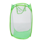 Morecome Foldable Pop Up Washing Laundry Basket Bag Hamper Mesh Storage Pueple