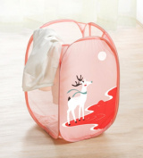 Animals Cartoon Foldable Dirty Clothes Laundry Basket Hampers Cute Toddler Baby Kids Toys Storage Bags