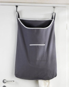 Space Saving Hanging Laundry Hamper Bag with Free Door Hooks - by The Fine Living Co USA