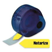 "Arrow Page Flags in Dispenser, ""Notarize"", Yellow, 120 Flags/Dispenser"