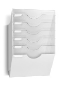 CEP Heavy-Duty 6-Section Wall File, 13.6 x 50cm x 14cm , White