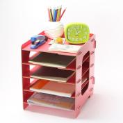 Menu Life DIY Desk File Letter Trays File Desk File Storage Cabinet Box Magazine Rack Stacking Supports Office Desk Trays A4