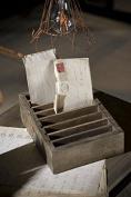 Vagabond Vintage, Rustic Recycled Pine Adjustable Slotted Postcard Holder
