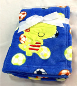 NaXY Flannel Baby Blankets for Boys Girls Blue Dragon Baby Gift