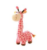 MYtodo Cute Giraffe Dolls Toy Little Deer Christmas Plush Toys Birthday Gifts