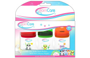 BornCare (3 Pack) 120ml Wide Neck Feeding Bottles with Silicone Nipple