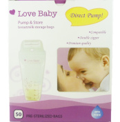 LoveBaby Breastmilk Storage Bags, 50 Count, Direct Pump