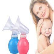 Newsfana Portable Manual Single Breast Feeding Pump Milk Pump Suction Milk Bottle BPA-Free for Home and Travel