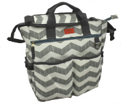 NEW AMAZINGLY DURABLE Poly Canvas Designer Nappy Bag by iTOTE/Perfect for Ipads