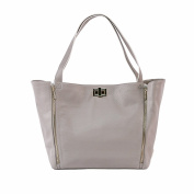 Rosie Pope Nappy Bag, Sloane Tote, Grey/White