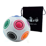 HJXDtech @ Magic Rainbow Ball 3D Tangram Puzzle Ball Magic Cube Decompression Toys with Free Cube Bag