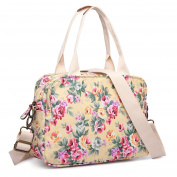 Miss Lulu Women Flower Handbag Retro Oilcloth Shoudler Bag Tote Satchel