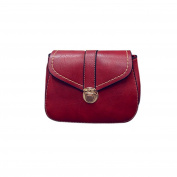 Xjp PU Leather Shoulder Bag Solid Colour Crossbody for Women