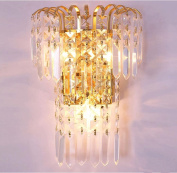 European style modern lamp bedroom dining room living room crystal wall lamp , a
