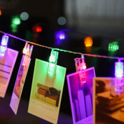 Picture String Lights, EONANT 20 LED Photo String Lights Battery Operated for Home/Party/Christmas Decor Multicolor