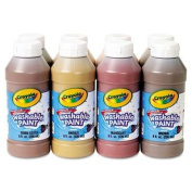 """Crayola - Multicultural Washable Paint Pack 8 Assorted Colours 240ml 8/Pack """"Product Category"""