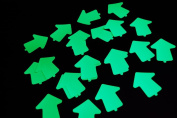 Glow in the Dark 5.1cm Vinyl Arrow Stickers- 25 Pack