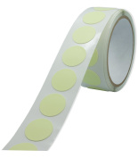 Glow in the Dark 2.5cm Vinyl Circle Dot Stickers x 100