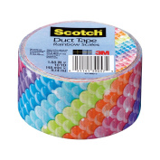 Scotch Duct Tape, Rainbow Scales, 4.8cm by 10-Yard, 6-Pack