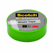 Scotch Expressions Washi Tape, .150cm x 1000cm , Green, 6 Rolls/Pack