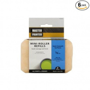General Paint & Manufacturing MPS38-2PK True Value 702405 Master Painter Select 7.6cm Mini-Roller Covers Twin Pack for Semi-Smooth Surfaces, 1cm Nap, 6-Pack
