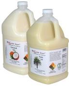 3.8l Coconut Oil + 3.8l Palm Oil Combination Pack - Finest Quality - 3.8l - Food Safe.