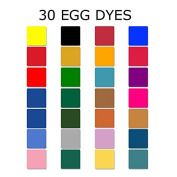 Set of 30 Dyes for Ukrainian Pysanky Easter Eggs Decorating