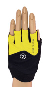 Zero Friction Women's Fitness Pull On Gloves, One Size, Yellow