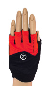 Zero Friction Women's Fitness Pull On Gloves, One Size, Red