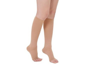 Open Toe Compression Socks Support Stockings Mens Womens 3 Pairs