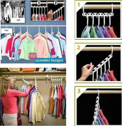 Zooarts 8pcs Portable Space Saver Wonder Magic Hanger Coat Clothes Closet Organiser Storage Hanging Hooks