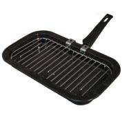 Falcon Grill Pan Detachable Handle - Black, 31 cm