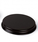 Round Wooden Display Plinth / Base - Diameter 14cm (Top) Mahogany Colour