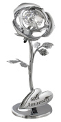 """""""60th Anniversary"""" Silver Flower with Clear Crystal Elements by Haysom Interiors"""