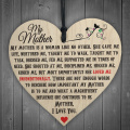 Red Ocean My Mother Like No Other Wooden Hanging Heart Plaque Mum Love Mothers Day Gift