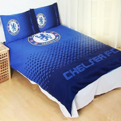 Chelsea FC Fade Reversible Double Duvet Cover and Pillow Case Set by Official Football Merchandise