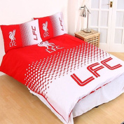Liverpool FC Fade Reversible Double Duvet Cover and Pillow Case Set by Official Football Merchandise