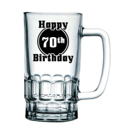 BRAND NEW 'Happy 70th Birthday' Birthday Beer Tankard/Stein/Mug - Exclusive to Mugs n Kisses Collection
