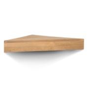 Threshold Solid Natural Pine Corner Shelf